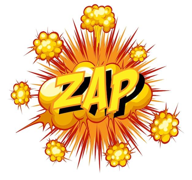 Balão de quadrinhos com texto zap