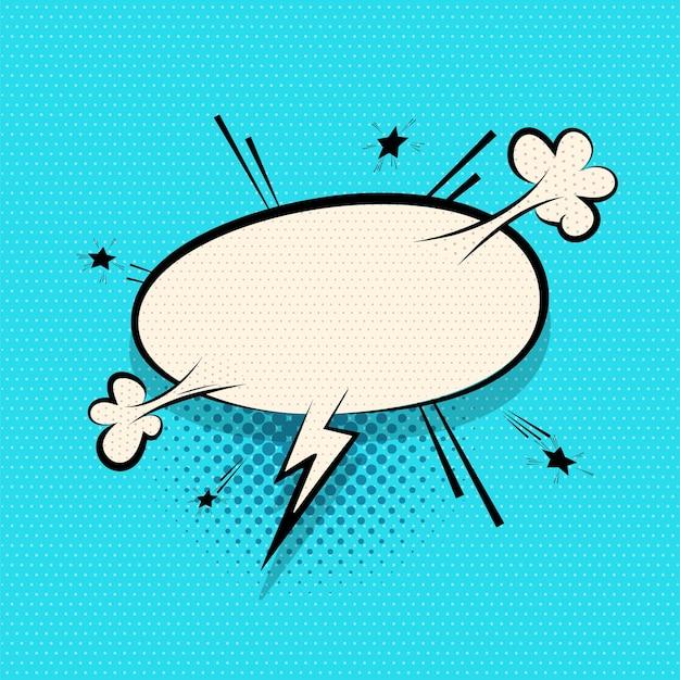Balão de quadrinhos para design de texto pop art