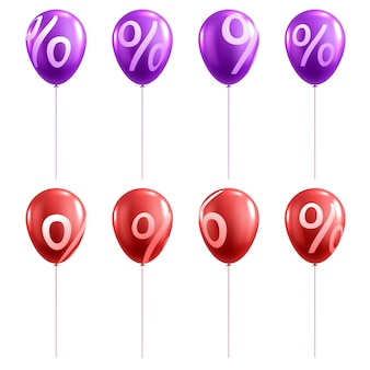 Balão de venda 3d com porcentagem
