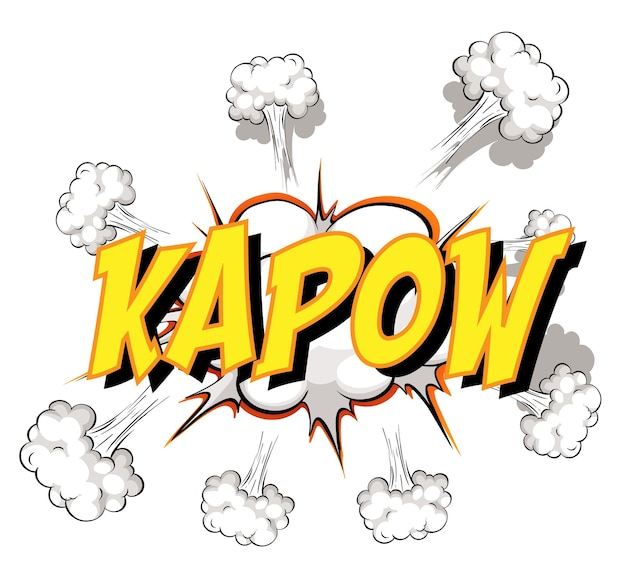 Balão em quadrinhos com texto kapow