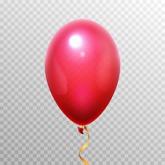 Balão vermelho 3d realista