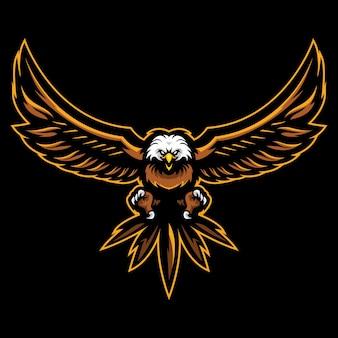 Bald eagle esport logo ilustração