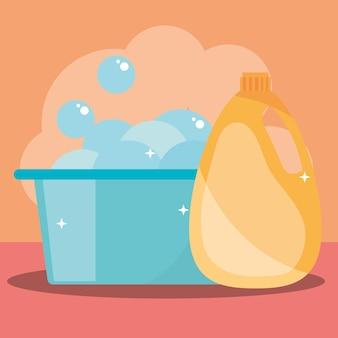 Balde de limpeza e sabão