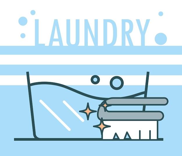 Balde e escova de roupa suja