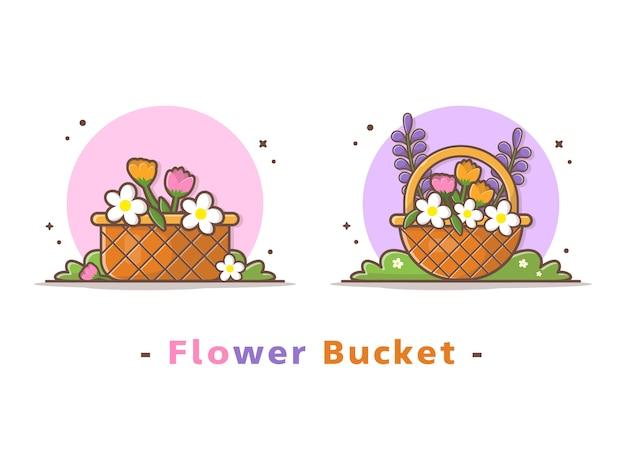 Baldes de flores