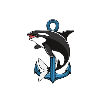 Baleia assassina e âncora.