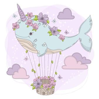 Baleia de baleias animal de festa de aniversário