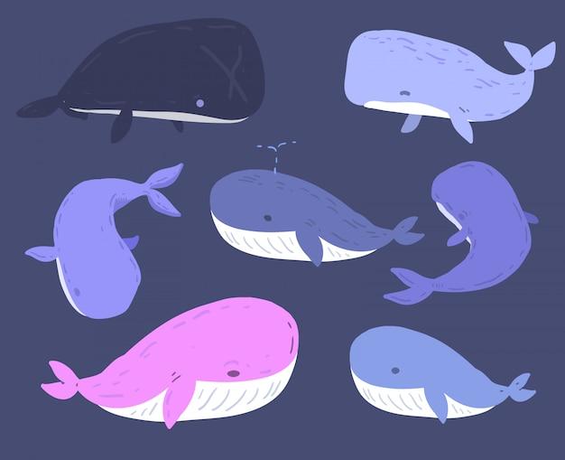 Baleia desenhada de mão