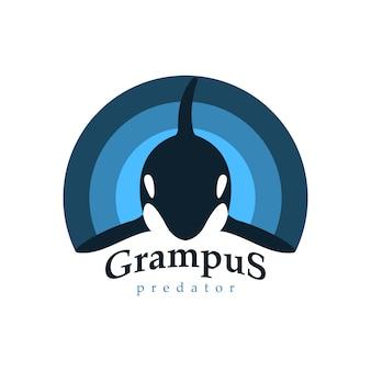 Baleia orca de logotipo.