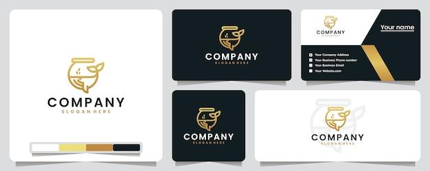 Baleia, vidro, aquário, logotipo e cartão de visita
