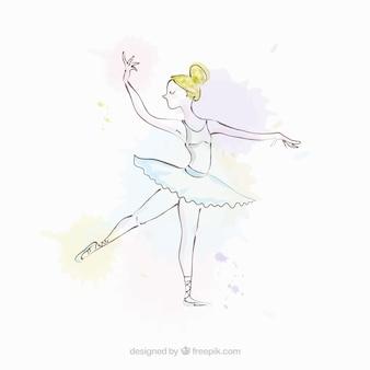 Ballerina simples esboçado