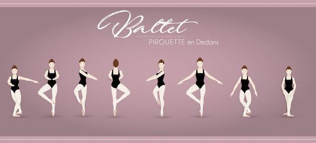 Ballet pirouette en dedans