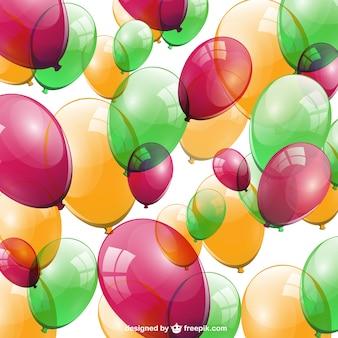 Ballloos aniversário vetor livre