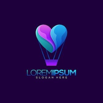 Ballon com design de logotipo de amor