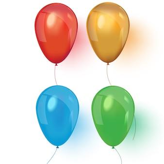 Balões 3d de ar realista