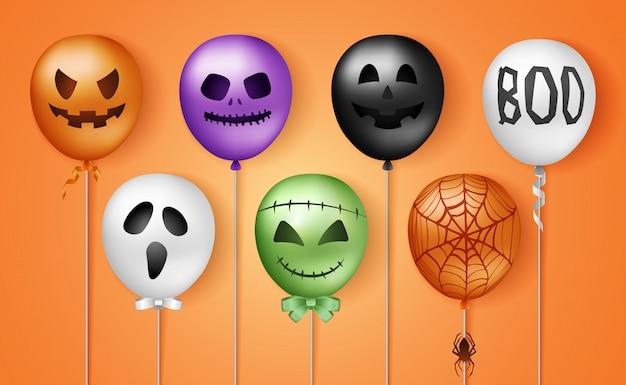 Balões 3d de halloween