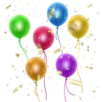 Balões ajustados isolados
