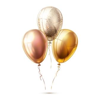 Balões brilhantes realistas