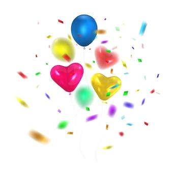 Balões coloridos brilhantes.