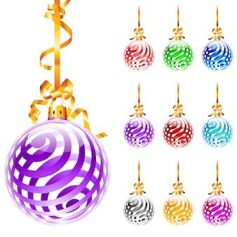 Balões coloridos de natal