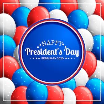 Balões coloridos do dia do presidente