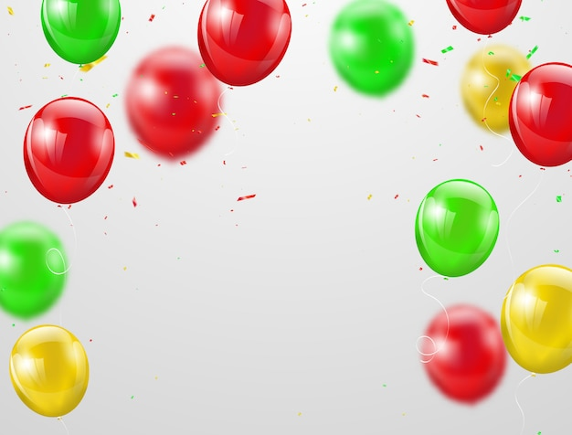 Balões coloridos festa junina,