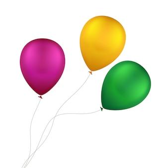 Balões coloridos multicoloridos de vetor isolados