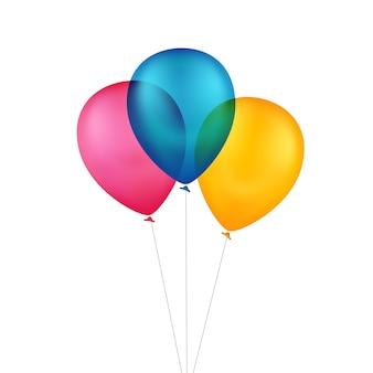 Balões coloridos multicoloridos de vetor
