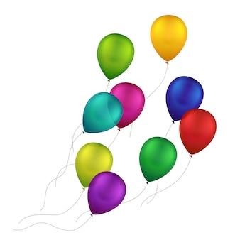 Balões coloridos multicoloridos
