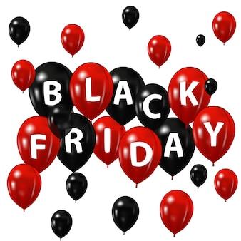 Balões com a inscrição black friday