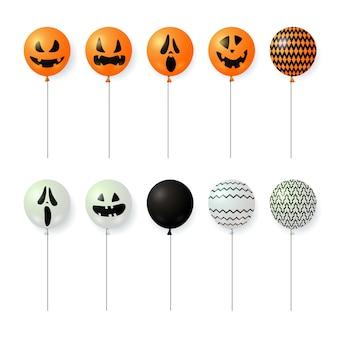 Balões com rostos assustadores