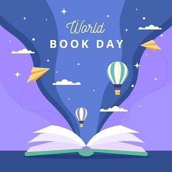 Balões de ar quente do dia internacional do livro