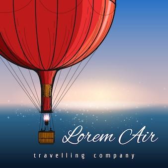 Balões de ar quente viajando