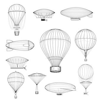 Balões de ar quente vintage