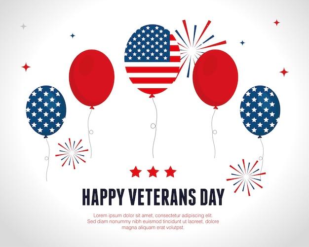 Balões de celebração na guerra dos veteranos