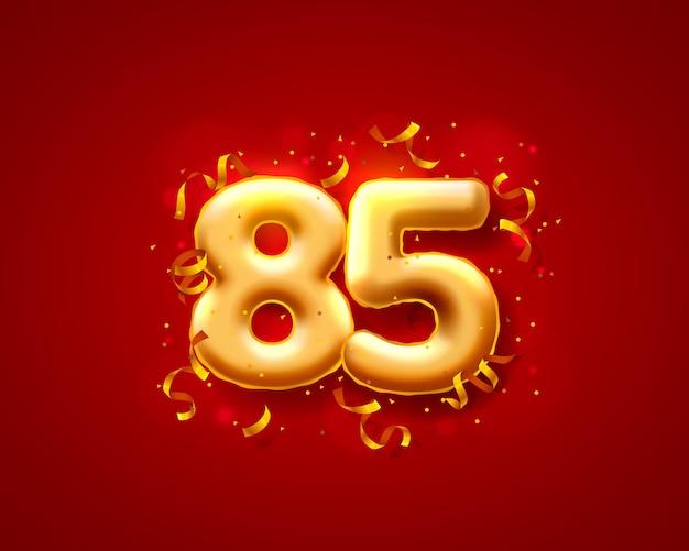 Balões de cerimônia festiva, 85 balões de números.