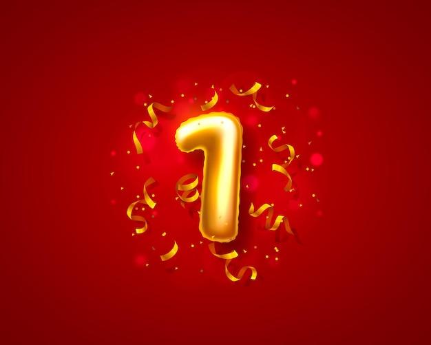 Balões de cerimônia festiva, balões de um número.