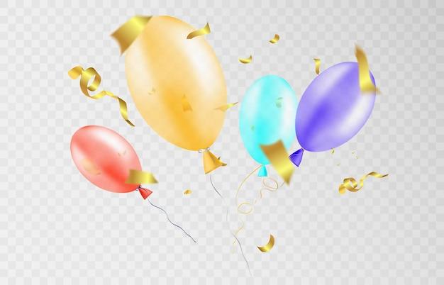 Balões de comemoração para ilustrações de saudação