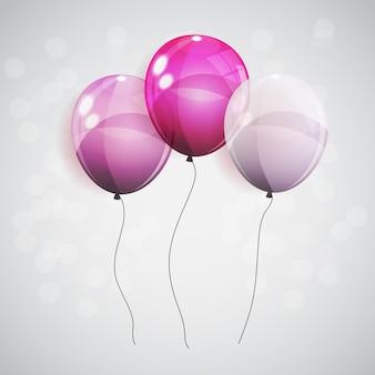 Balões de cor brilhante