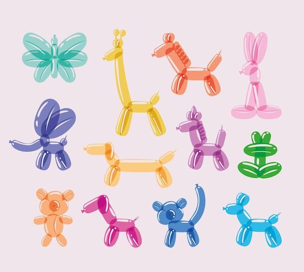 Balões de design de animais