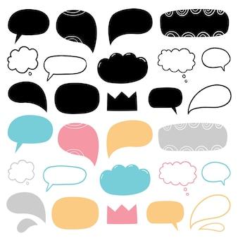 Balões de fala abstratos desenhados à mão