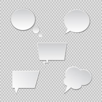 Balões de fala. caixa de discurso de vetor