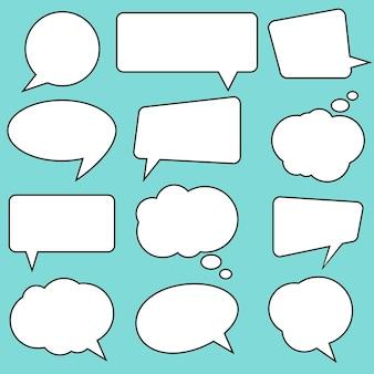 Balões de fala com estilo de quadrinhos