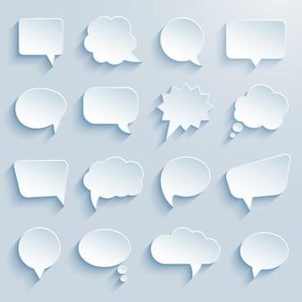 Balões de fala de comunicação de papel