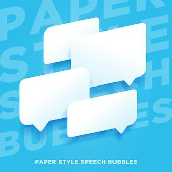 Balões de fala em papel