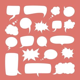 Balões de fala em quadrinhos vazios de variação