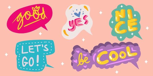 Balões de fala fofos