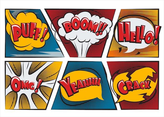 Balões de fala surpresa para quadrinhos