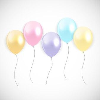 Balões de feliz aniversário brilhante