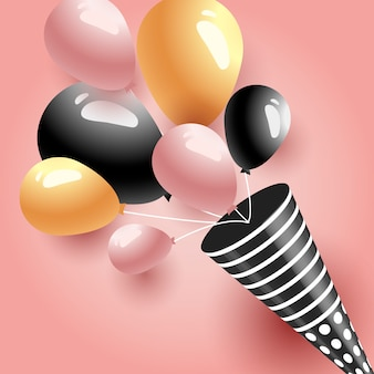 Balões de festa de aniversário de celebração